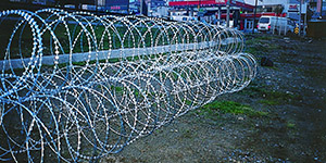 High security razor wire barriers